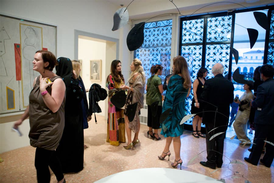 Guests at the Gala Reception held at the Peggy Guggenheim Collection.