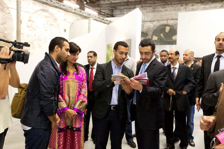 Minister of Foreign Affairs, HH Sheikh Abdullah bin Zayed Al Nahyan with Brownbook Founders - Ahmed & Rashid bin Shabib