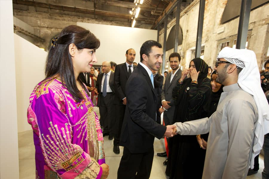 Minister of Foreign Affairs, HH Sheikh Abdullah bin Zayed Al Nahyan meets National Pavilion UAE Interns