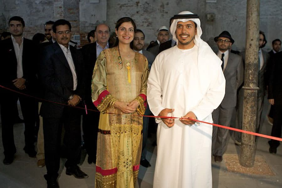 H.H. Sheikh Sultan bin Tahnoon Al Nahyan officially opens the pavilion.