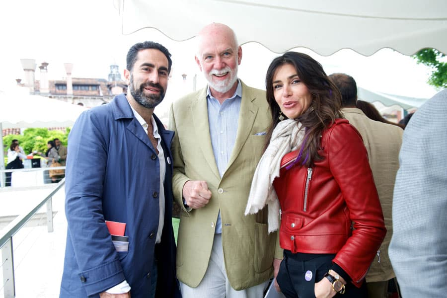 Guests at National Pavilion Brunch Reception - Peggy Guggenheim Collection Rooftop