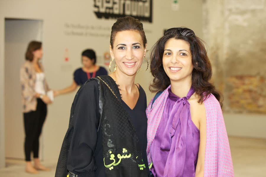 Guests in the National Pavilion UAE