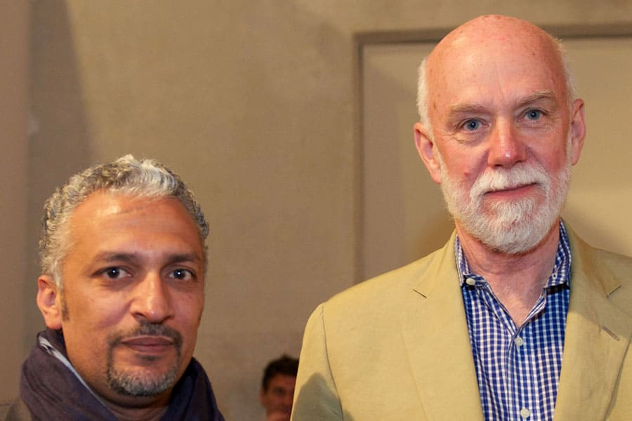 Artist Mohammed Kazem & Richard Armstrong -  Director of the Solomon R. Guggenheim Museum and Foundation