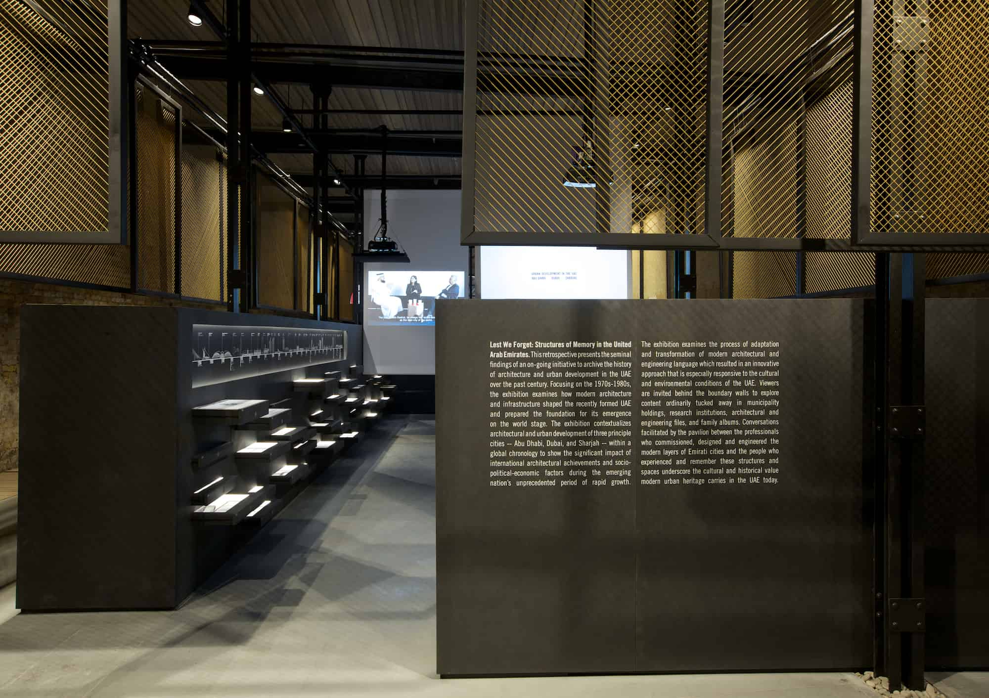 'Lest We Forget: Structures of Memory in the UAE' exhibition at the 14th International Architecture Exhibition of la Biennale di Venezia.