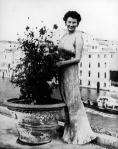 Peggy Guggenheim on her Venice terrace
